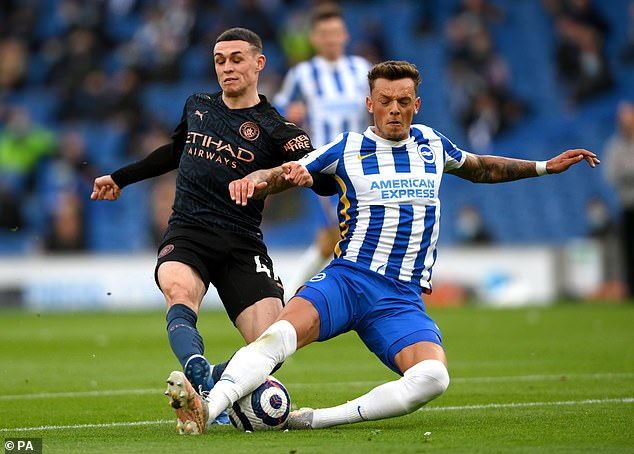As a result, Brighton have now placed a £50m price tag on their academy prospect (right)