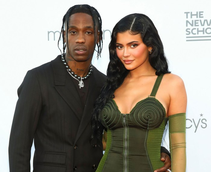 Travis Scott Attends Red Carpet Event With 'Wifey' Kylie and Stormi: Pics