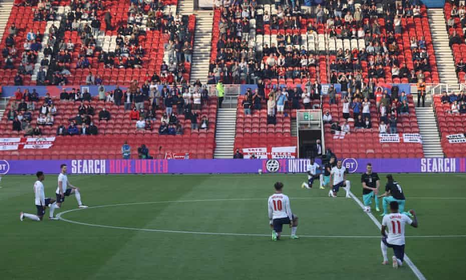 Boos were heard as England and Austria's players took the knee