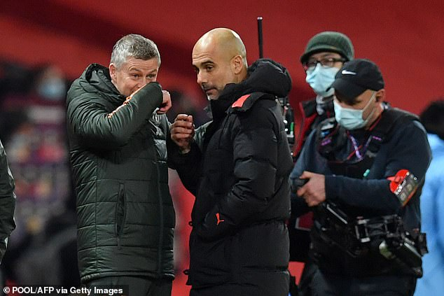 Pep Guardiola (right) and Ole Gunnar Solskjaer have been nominated for the Premier League Manager of the Year Award