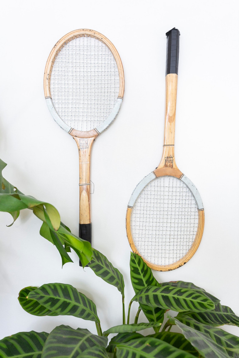 What I Rent: Jess, Wirral, Merseyside: tennis racquets hanging on wall