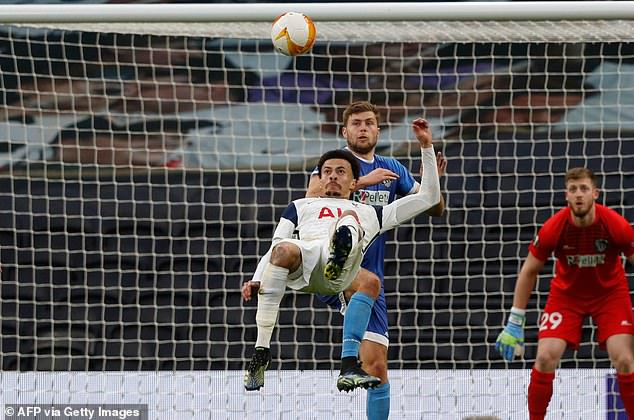 Dele Alli had a poor season at Spurs but his overhead kick against Wolfsberger makes the list