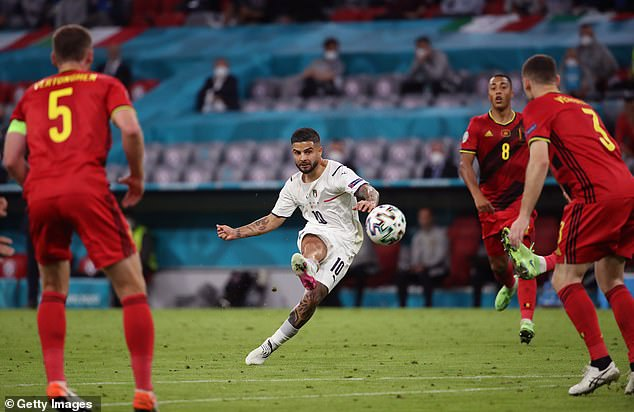 Lorenzo Insigne won the Euros with Italy and his goal against Belgium has been nominated