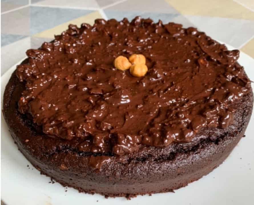 Stefano Biondi's chocolate cake.