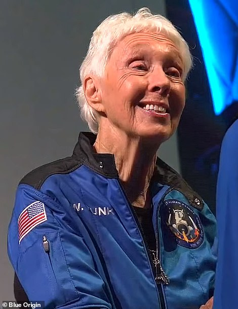 Wally Funk, 82, is the oldest person to have ever gone to space