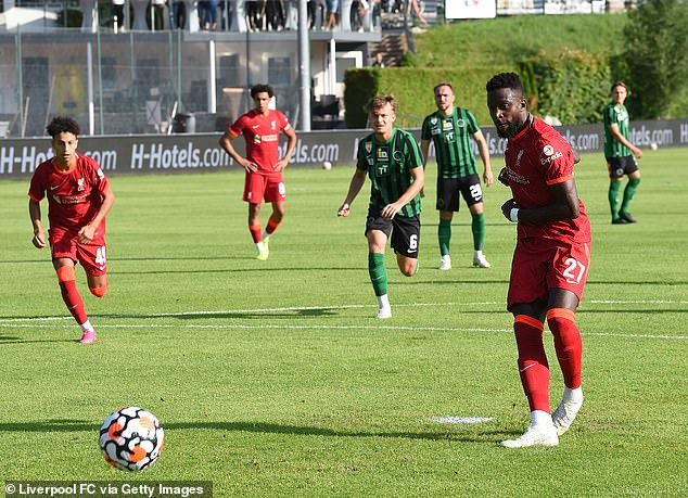 Divock Origi scored from the penalty spot against Innsbruck and looked sharp in the channels