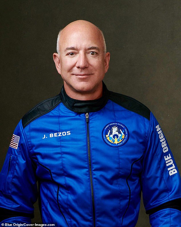 Bezos, 57, along with the three other astronauts, will fly up to 66 miles above the surface of the Earth on the fully autonomous rocket and capsule New Shepard
