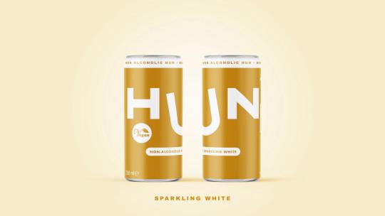 Hun alcohol-free canned wine