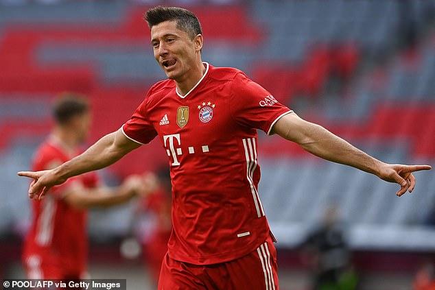 Robert Lewandowski is also a contender after scoring a staggering 48 goals last season