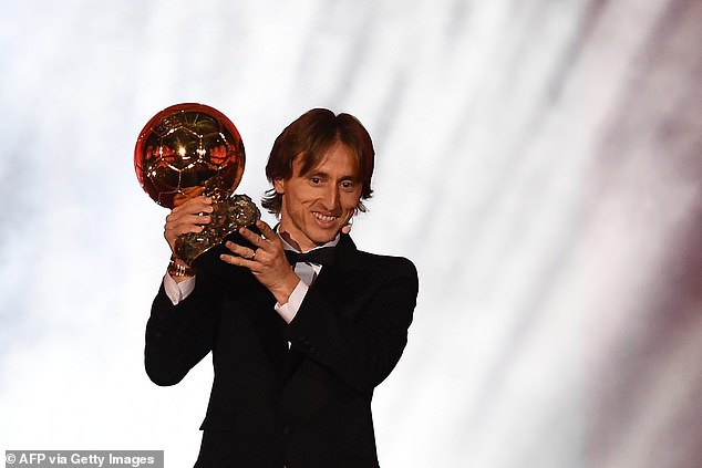 Luka Modric is the only person to win the award other than Messi and Ronaldo since 2008