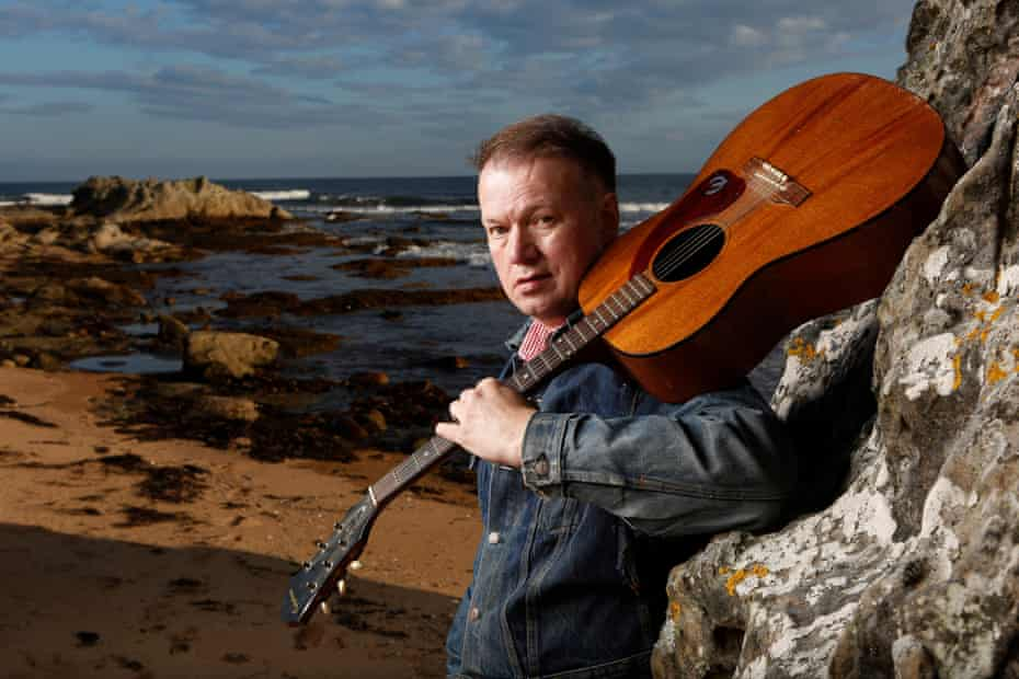 Rip it up and start again … musician Edwyn Collins, a Hlemsdale local, enjoys the new face of Timespan.
