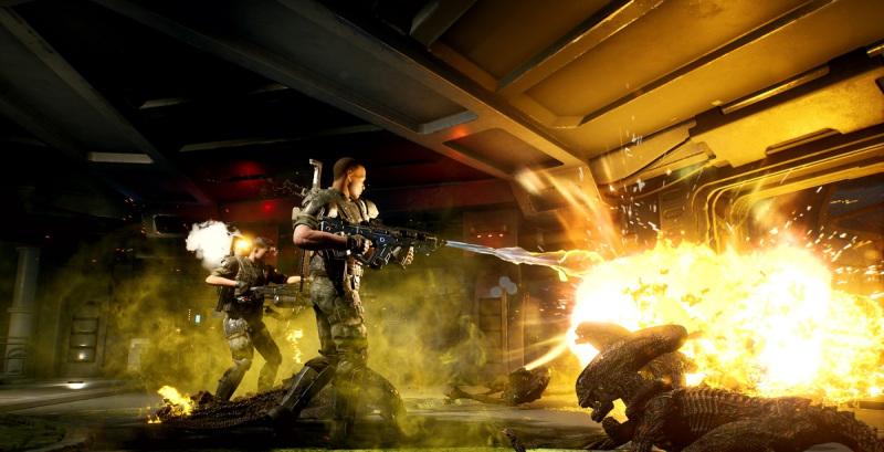You'll engage in fierce firefights in Aliens: Fireteam.