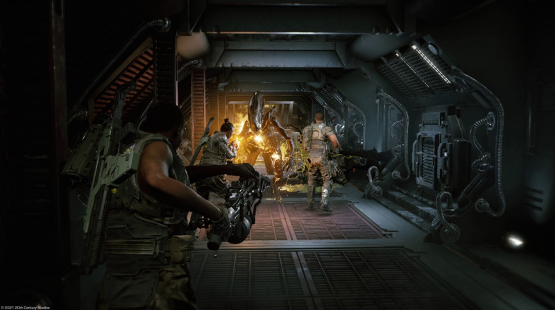 Aliens Fireteam is full of intense firefights with xenomorphs.