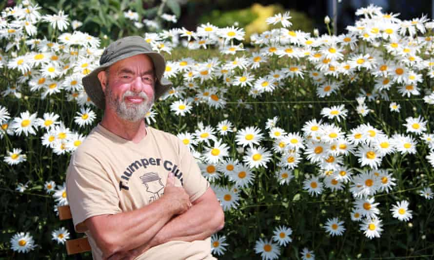 Chris Holmes in his garden in Battywatticock, County Down