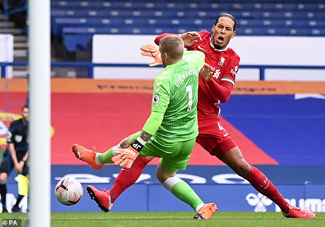 Van Dijk suffered a season-ending ACL injury last October as a result of Jordan Pickford's lunge