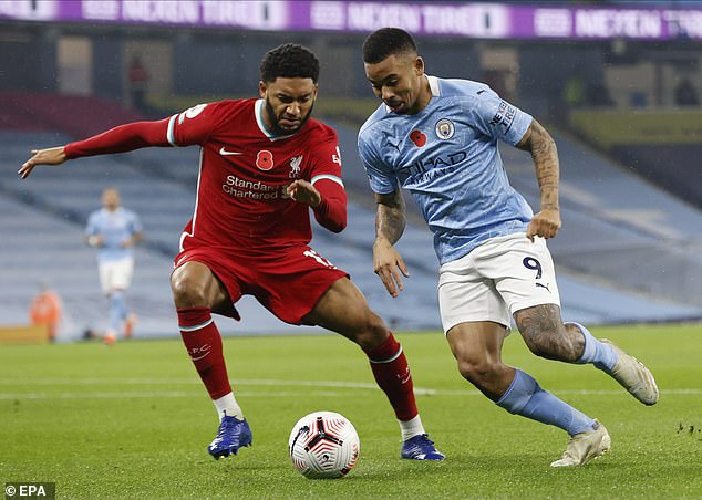 Gomez last appeared for Liverpool on November 8 in a 1-1 draw against Manchester City