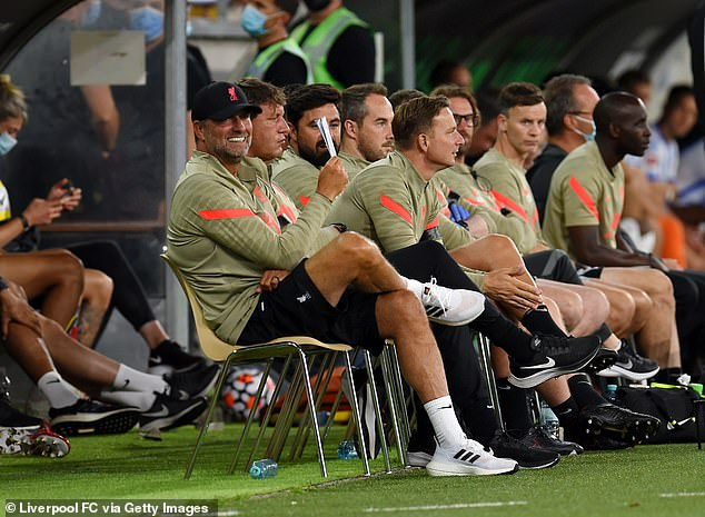 Klopp was all smiles during the pre-season friendly in Austria as his two centre backs returned
