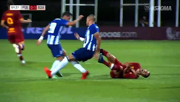 The incident saw Mkhitaryan collapse to the ground, with Pepe soon following