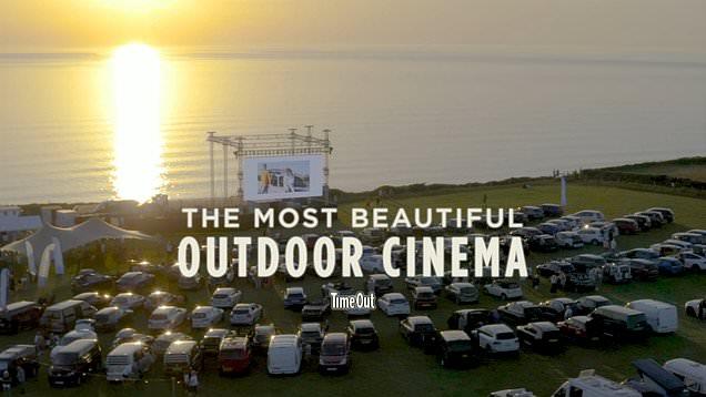 Oceanfront drive-in cinema in Cornwall