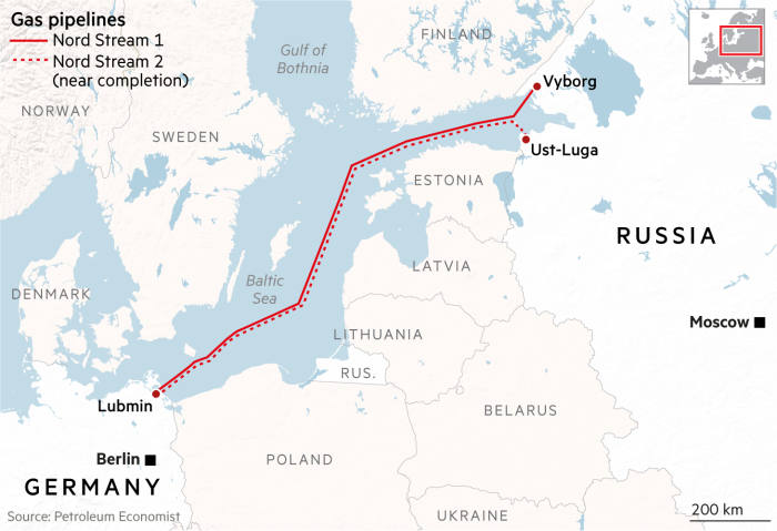Nord Stream map