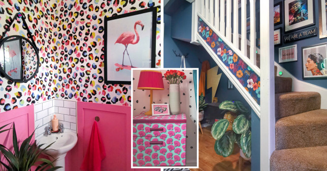 How to make bold wallpaper work in your home credit: Mel Hamblett/@awholenewbuild