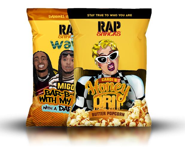 RapSnack chips varieties