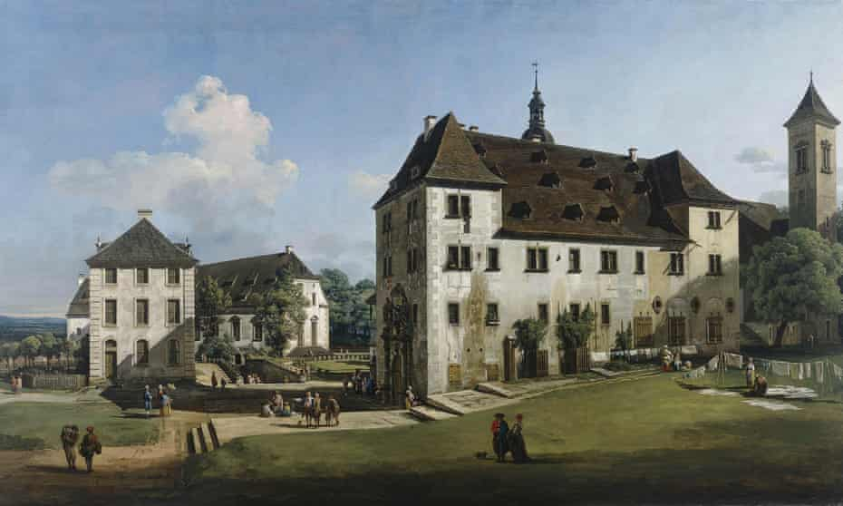 Place of safety … Bellotto's employer, Frederick Augustus II, took shelter in the fortress.