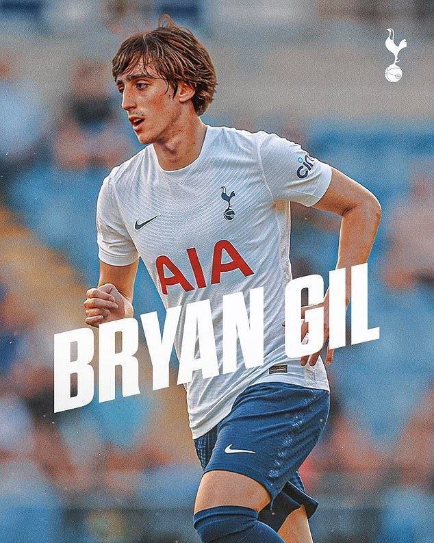 Tottenham announced on Twitter the signing of Bryan Gil from Sevilla with a mock-up picture of the Spanish midfielder wearing the club colours