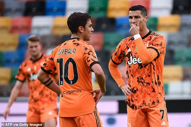 Giorgio Chiellini believes Paulo Dybala (left) can be key for Juventus now Ronaldo has gone