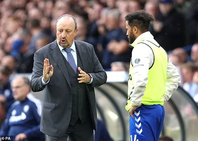 The winger is enjoying working under Rafa Benitez (left) for the second time in his career