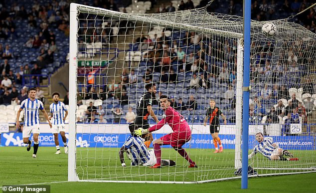 Townsend scores Everton's winner against Huddersfield in the Carabao Cup last last month