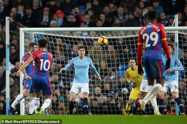 Townsend won Goal of the Season for this spectacular volley against Manchester City in 2018