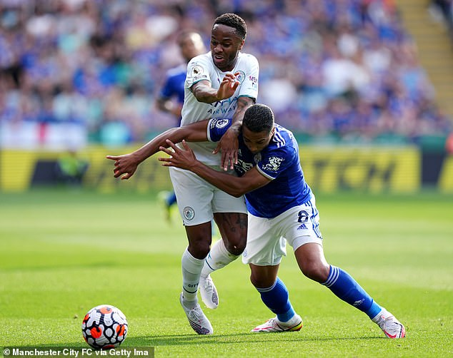 Raheem Sterling came off the bench as Manchester City flexed their muscle against the Foxes