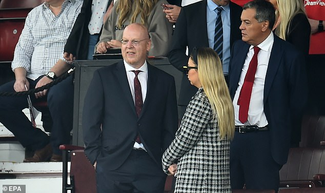 United owner Avram Glazer attended his first match at Old Trafford in two years on Saturday