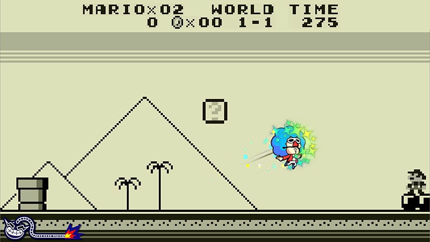 Jimmy dashes through Super Mario Land in WarioWare: Get It Together!