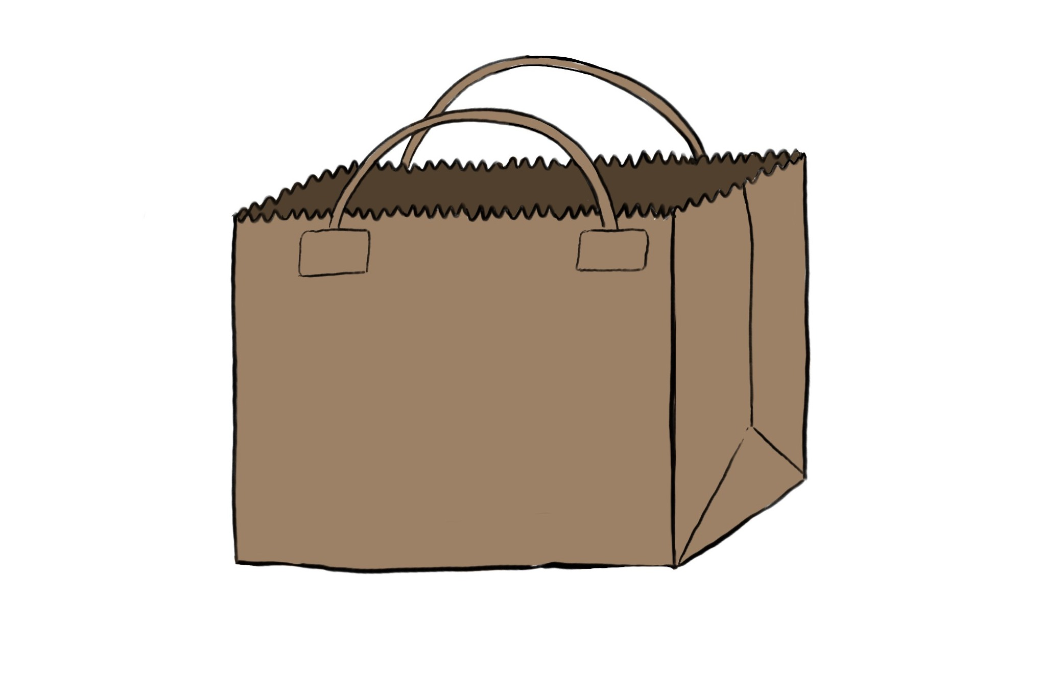 Illustration of a brown paper bag