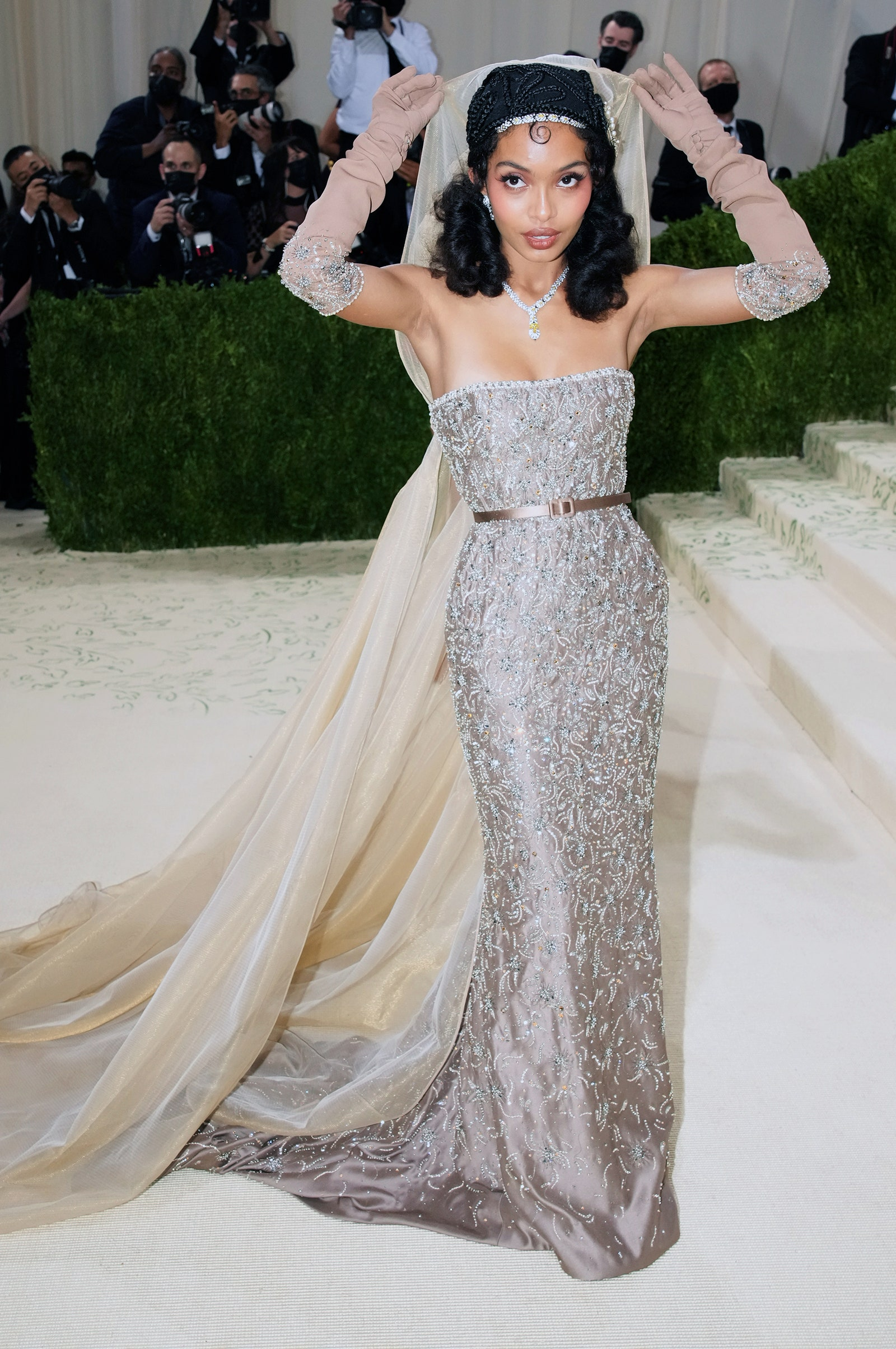 Yara Shahidi in a Christian Dior gown at the Met Gala.