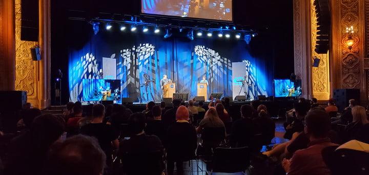 Mega 64 giving the keynote address at PAX West