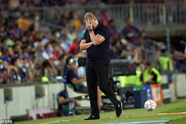 Ronald Koeman rued his lack of options after his team's nightmare start to the group stage