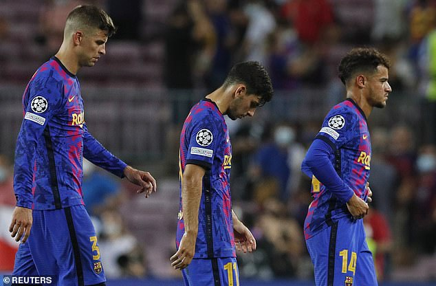 The hosts were well beaten on the night, having let in three and barely threatened in attack