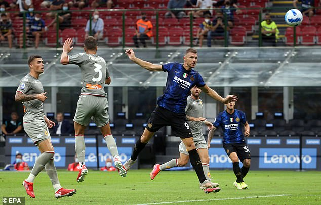 Edin Dzeko signed for Inter over the summer and has been partnered with Martinez up front