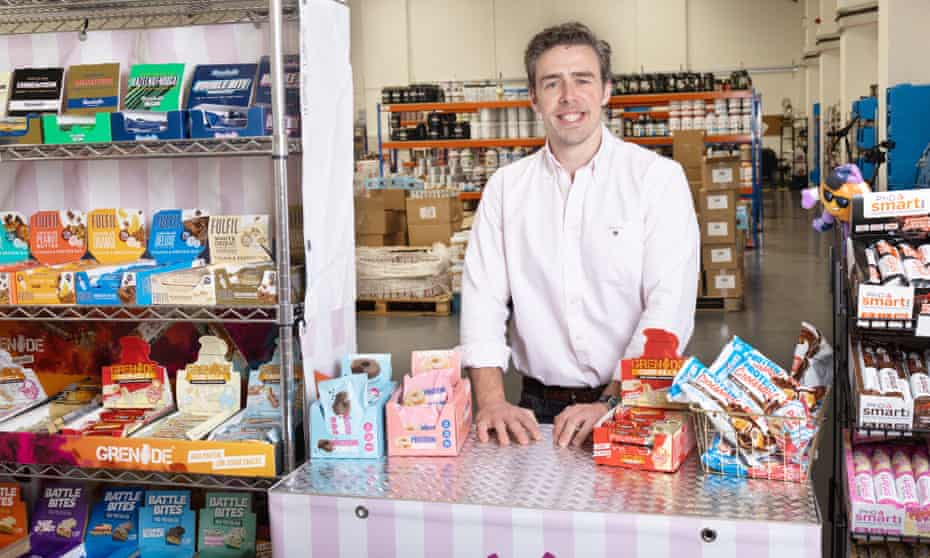 Packed with snacks … Anthony Rodgers at his Protein Pick and Mix store.