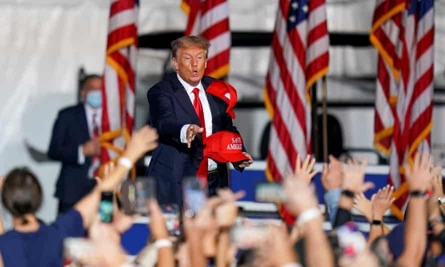 Donald Trump at a rally in Cullman, Alabama, in late August.