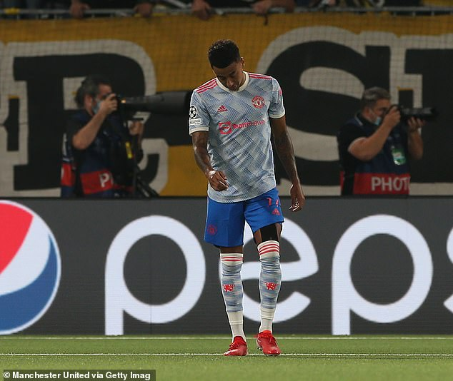 Jesse Lingard's (above) poor backpass gifted Young Boys a 95-minute winner on Tuesday night