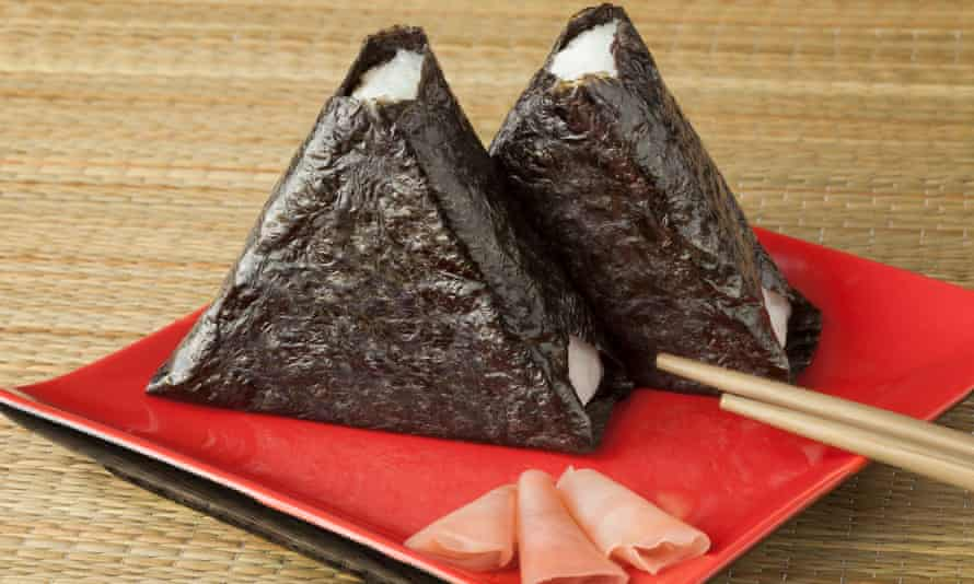 Roll with it … onigiri rice cakes.