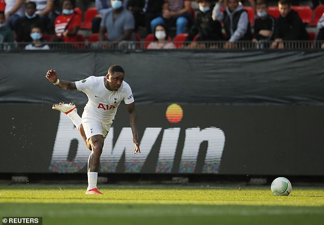 Steven Bergwijn was substituted in the first half after having to go off with an ankle injury
