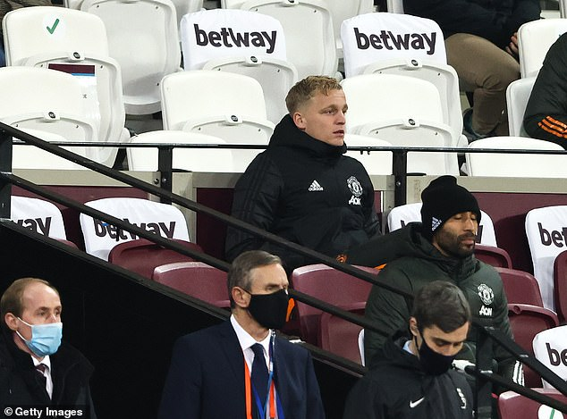 Most of Van de Beek's United career has been spent on the bench for their biggest matches