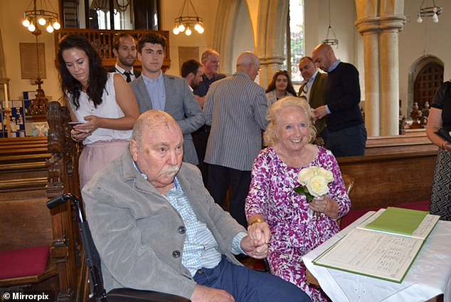 Greaves (left) leaves behind wife Irene (right), four children Lynn, Mitzi, Danny and Andrew along with 10 grandchildren and great grandchildren