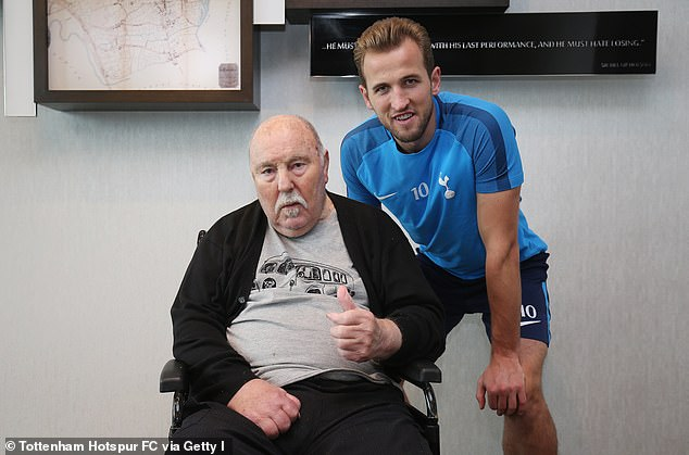 Greaves (left, with Tottenham and England striker Harry Kane) was awarded an MBE inthe Queen's New Year Honours list at the end of 2020 after a Sportsmail campaign