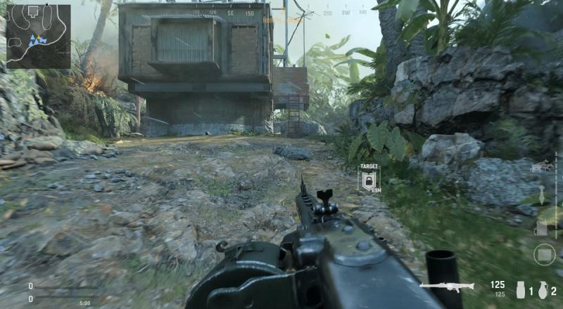Fighting on Gavutu in Call of Duty: Vanguard multiplayer.